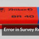 Error in Survey Research