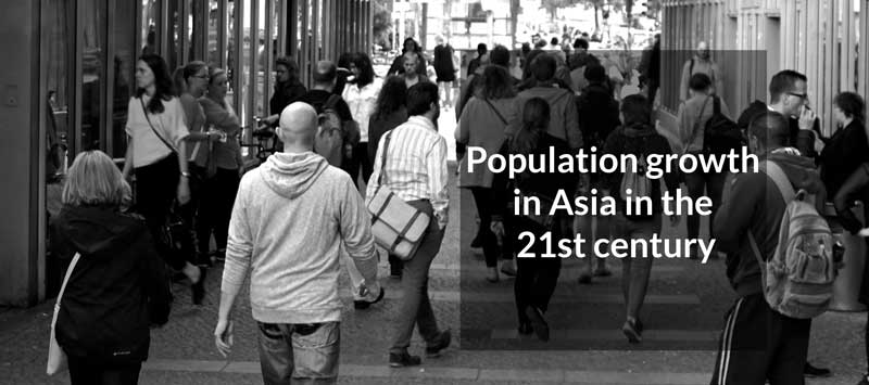 Population growth in Asia in the 21st century